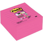 Post it Sticky Notes Super Sticky Pink Ruled 101 x 101 mm 70gsm 5 pieces of 90 sheets