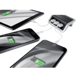 Leitz Style 3 port USB Power Charger Satin Black