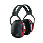 3M Ear Defenders X3A Foam Plastic One Size Red Black