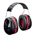3M Earmuffs XH001650833 EA Foam Universal Black Red