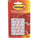 Command Clear clips with command strips 17026CLR Clear