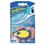 Sellotape Tape dispenser On hand Blue and yellow