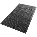 Floortex Mat Anti fatigue Black 1500 x 900 mm