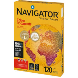 Navigator Colour Documents Paper A3 120gsm White 500 Sheets
