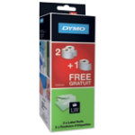 DYMO Label Rolls LW 2  1 free 54 x 101 mm White