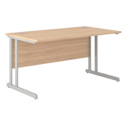 Desk optima c oak 720 x 1200 x 800 mm by viking - Viking office desk ...