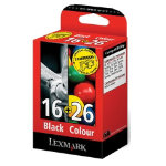 Lexmark 16 26 Black and Colour Ink Cartridge Multipack