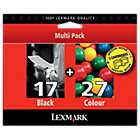 Lexmark 17 27 Black Cyan Magenta Yellow Printer Ink Cartridge 80D2952