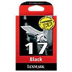 Lexmark 17 Black Printer Ink Cartridge Twin Pack 10NX217E