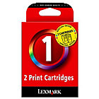 Lexmark 1 Original Ink Cartridge 80D2955 3 Colours Duopack