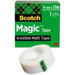 Scotch Magic Invisible Tape 19mm x 33m