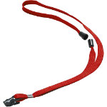 Durable Fabric Badge 17cent Long Red lanyard 10 pk