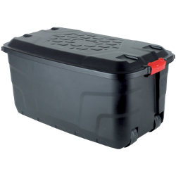 Foray Storage Box 145 L Black Plastic 450 x 520 x 940 mm