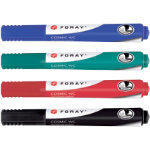 Foray Whiteboard Marker Cosmic WC Chisel Black Blue Red Green Pack 4