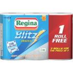 Regina Kitchen Roll Blitz 3 ply Pack 3
