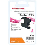 Office Depot Compatible for Brother LC 123 Magenta Ink Cartridge LC125