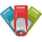 SanDisk USB Stick Cruzer Edge 16 GB Blue Green Red