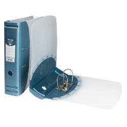 Hermes Polypropylene Lever Arch Files A4 Metallic Blue