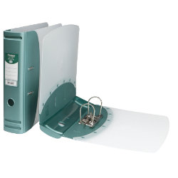 Hermes Polypropylene Lever Arch Files A4 Metallic Green