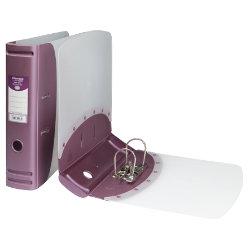 Hermes Polypropylene Lever Arch Files A4 Metallic Pink