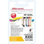 Office Depot Compatible HP 364XL Ink Cartridge n9j74ae Black Cyan Magenta Yellow 4 pieces