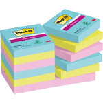 Post it Super Sticky Notes Miami Assorted 48 x 48 mm 70gsm 12 pieces of 90 sheets