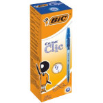 BIC Ballpoint Pen Cristal Clic 04 mm Blue Pack 20