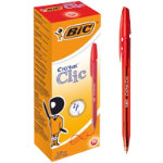 Bic Cristal Clic Red Pack of 20