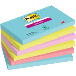 Post it Super Sticky Notes Miami Assorted 76 x 127 mm 70gsm 6 pieces of 90 sheets