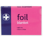 Foil Blanket Adult Size Box 10