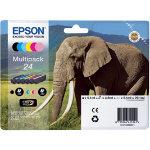Epson 24 Original Ink Cartridge C13T24284011 Black 5 Colours Pack 6