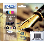 Epson 16 Original Ink Cartridge C13T16264012 Black 3 Colours Multipack