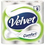 Velvet Toilet Paper 2 ply 9 rolls of 210 sheets