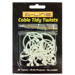 D Line Cable Tidy Twists White
