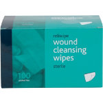 WIPES MOIST SALINE WOUND CLEANSING STERILE BOX 100