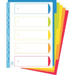Exacompta Dividers 3805E A4 Multicolour 5 tabs polypropylene