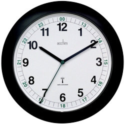 Acctim Radio Controlled Wall Clock 275mm  Black