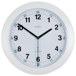 Acctim Radio Controlled Wall Clock  275mm  White
