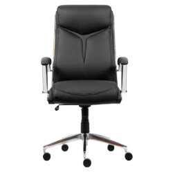 Realspace Midas Bonded Leather Executive Office Chair Black