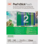 Acco Rexel Self Adhesive Back Pouches A4 100pk