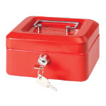 Niceday Cash Box Red 152 x 80 x 118 mm