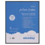 Niceday Aluminium Frame Black 500H x 400Wmm 2 Per Pack