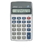 Ativa AT709 Pocket Calculator 8 Digit Battery Powered 100x55x10mm