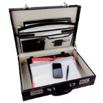 Monolith Bonded Leather Attache Case