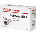 Office Depot Clips Silver 100mm 6 Per Box