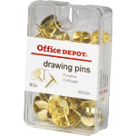 Office Depot Drawing Pins Copper Plated 100 bx