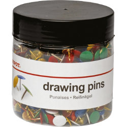 Office Depot Multi Coloured Drawing Pins 95mm 1000 tub