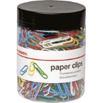 Office Depot Multi Coloured Paper Clips 33mm 500 tub