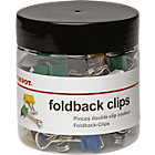 Office Depot Foldback Clips Assorted 19mm 50 Per Box