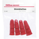 Office Depot Finger Cones Small Red 12 Per Pack